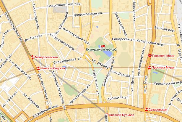 Большая екатериненская улица москва где